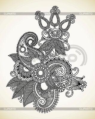 화려한 꽃 디자인 | 벡터 클립 아트 |ID 3101798