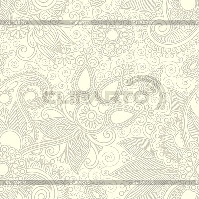 Seamless flower paisley design background | Stock Vector Graphics |ID 3101808