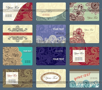 Business card collection  | Stock Vector Graphics |ID 3270991