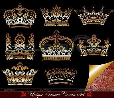 Set of heraldic crowns | Stock Vector Graphics |ID 3271009