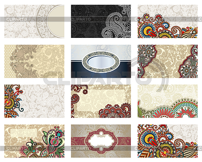 Floral business card set  | High resolution stock illustration |ID 3272818