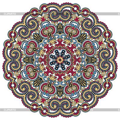 Okrągły ornament, ozdobne koronki okrągły | Klipart wektorowy |ID 3273843