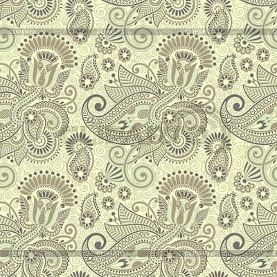 Nahtloses Blumen-Paisley-Design | Stock Vektorgrafik |ID 3280418