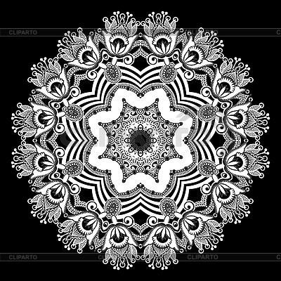 Ornament koło, ozdobne koronki okrągły | Klipart wektorowy |ID 3293788