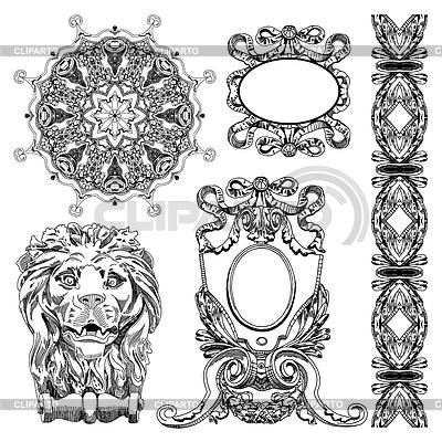 Ornamental design element of Lviv historical | Stock Vector Graphics |ID 3294426