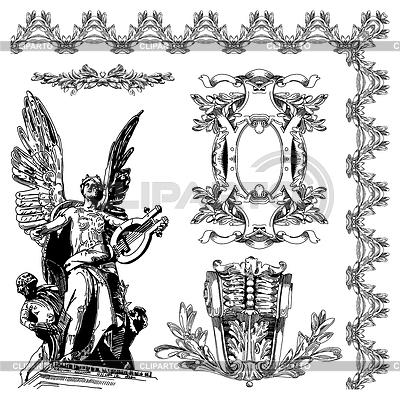 Elemento de diseño ornamental de Lviv histórico | Ilustración vectorial de stock |ID 3294444