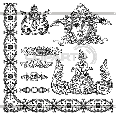 Ornamental design elements   Stock Vector Graphics  ID 3294449