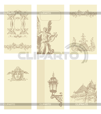 Classical vintage old frame and card designs | Stock Vector Graphics |ID 3294463
