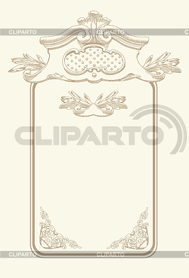 Classical vintage old frame design | Stock Vector Graphics |ID 3294496