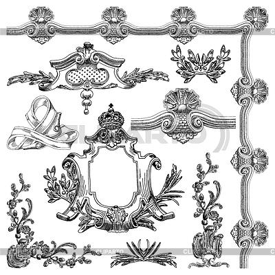 Ornamental design elements   Stock Vector Graphics  ID 3294895