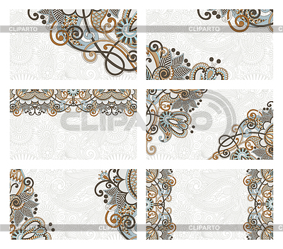 Floral business card set | Stock Vector Graphics |ID 3295357