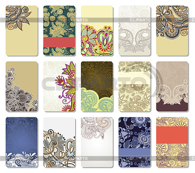 Ornamental business card   Stock Vector Graphics  ID 3372494