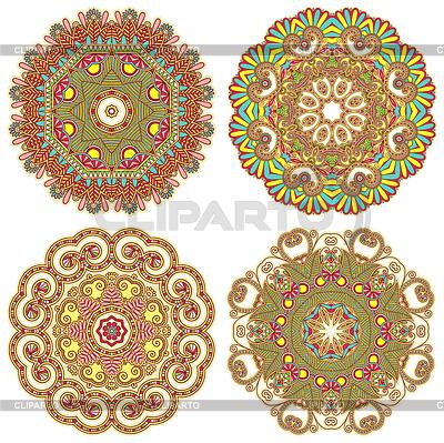 Ornament koło, ozdobne koronki okrągły | Klipart wektorowy |ID 3374219