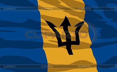 Flag of Barbados   Stock Vector Graphics  ID 3094107