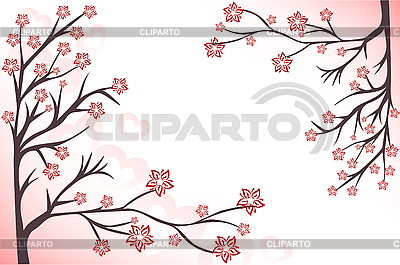 Pink blossom branches | Stock Vector Graphics |ID 3095871