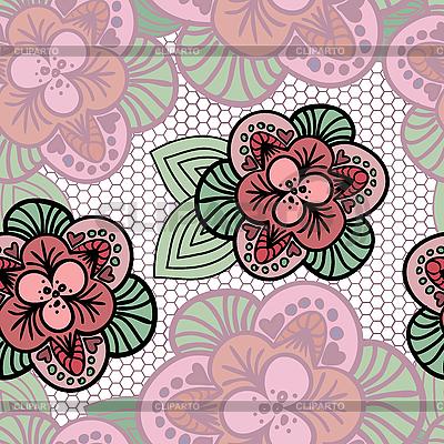 Spitze-Hintergrund mit Blumen | Stock Vektorgrafik |ID 3099641