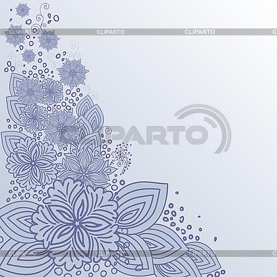 Blaues Blumen-Design | Stock Vektorgrafik |ID 3099649