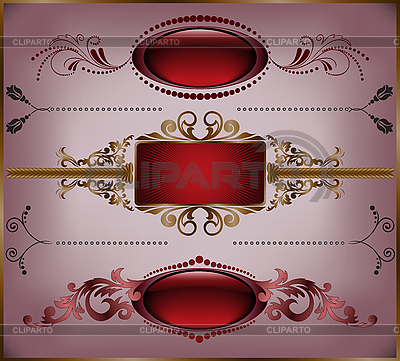 Set of vintage frames | Stock Vector Graphics |ID 3099673