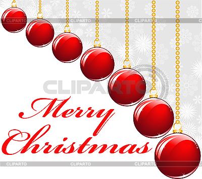 Red Christmas balls | Stock Vector Graphics |ID 3101863