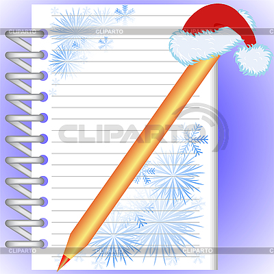 New Year's notebook | Stock Vector Graphics |ID 3101966