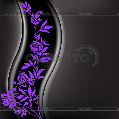 Schwarzer Hintergrund mit violettem Zweig | Stock Vektorgrafik |ID 3134298