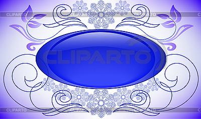 Blue Christmas vignette | Stock Vector Graphics |ID 3200618
