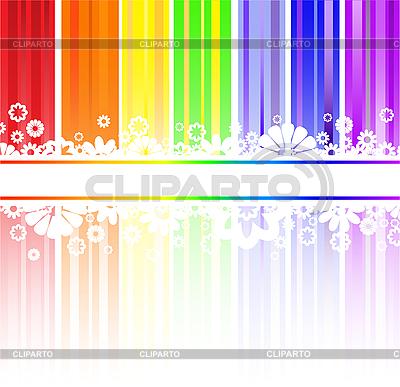 Blumen in den Regenbogen-Streifen | Stock Vektorgrafik |ID 3203619