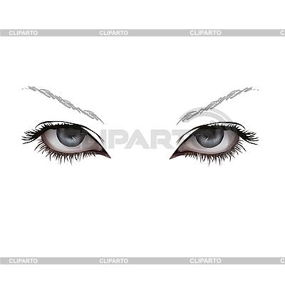 Oczy kobieta | Klipart wektorowy |ID 3095708