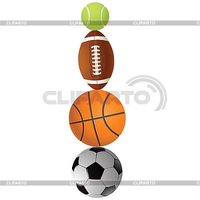 Tennisball, Rugby, Basketball und Volleyball | Stock Vektorgrafik |ID 3179505