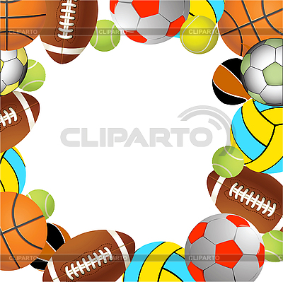 Football, volleyball, tennis and Rugby balls | Stock Vector Graphics |ID 3179523