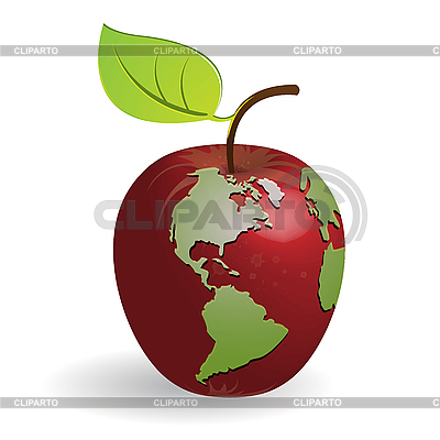 Apple-globe | Stock Vector Graphics |ID 3095899