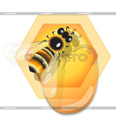 꿀벌과 꿀 | 벡터 클립 아트 |ID 3095941