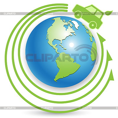 Bio car on globe | Stock Vector Graphics |ID 3095961