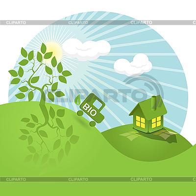 Bio landscape   Stock Vector Graphics  ID 3095969