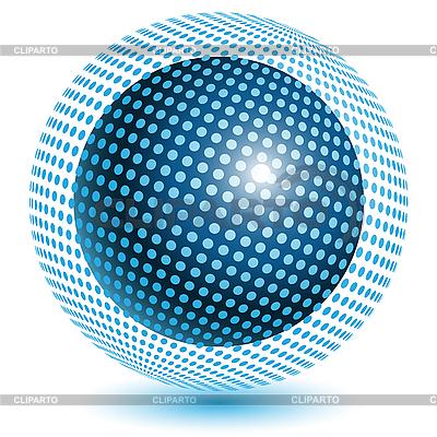 Blue ball | Stock Vector Graphics |ID 3095993