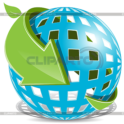 Blue Ball And Green Arrow | Stock Vector Graphics |ID 3095995
