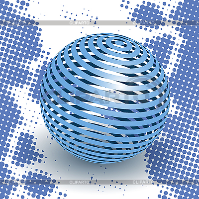 Blue ball | Stock Vector Graphics |ID 3096003