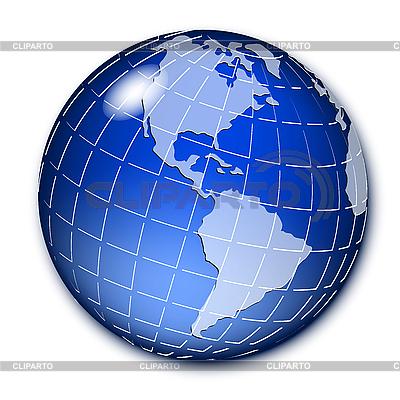 Blue globe | Stock Vector Graphics |ID 3096017