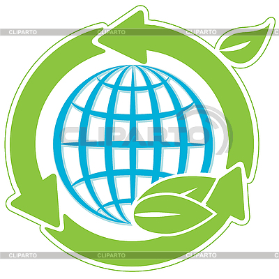 Globe and green arrows | Stock Vector Graphics |ID 3096027