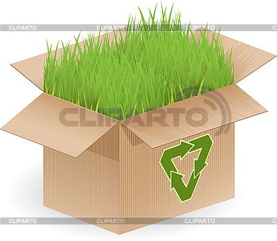 Znak box i recykling | Klipart wektorowy |ID 3096087