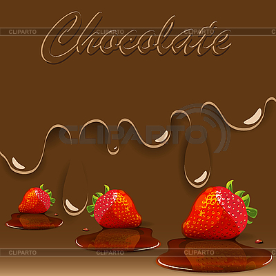 Chocolate, strawberry and caramel   Stock Vector Graphics  ID 3096170