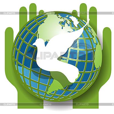 Taube und Weltkugel | Stock Vektorgrafik |ID 3096248