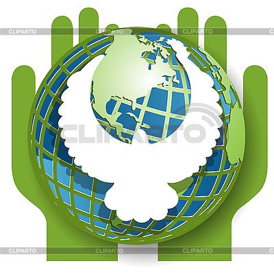 Dove and globe | Stock Vector Graphics |ID 3096252