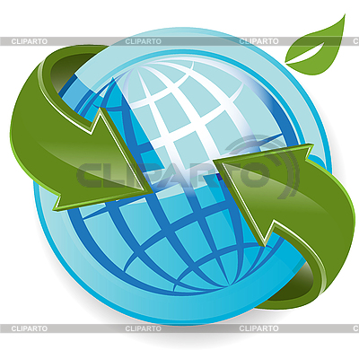 Globe And Arrows | Stock Vector Graphics |ID 3096398