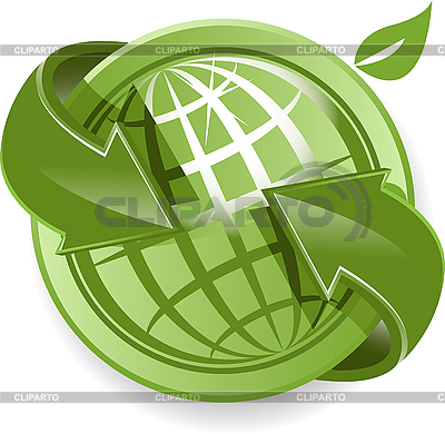 Globe and green arrows | Stock Vector Graphics |ID 3096874