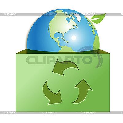 Globe in green box | Stock Vector Graphics |ID 3099482
