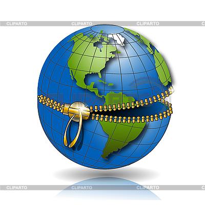 全球锁   向量插图  ID 3099496