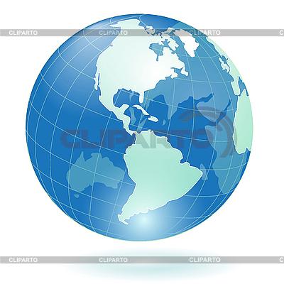 Blue globe | Stock Vector Graphics |ID 3099526