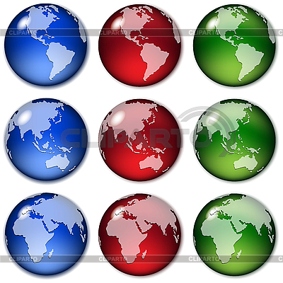 Globes | Stock Vector Graphics |ID 3130855