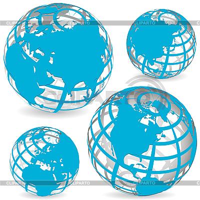 Globusy | Klipart wektorowy |ID 3130873